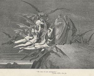 Inferno - Canto 21 (Quadro de Gustave Dore)