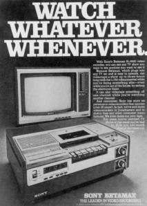 Anúncio de Lançamento do Sony Betamax