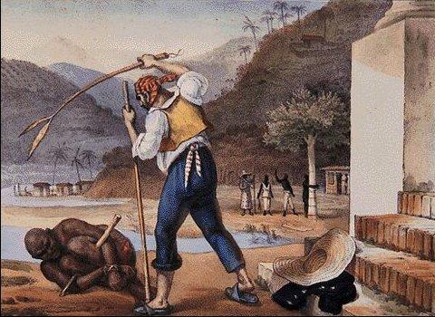 Escravo sendo castigado (Debret)