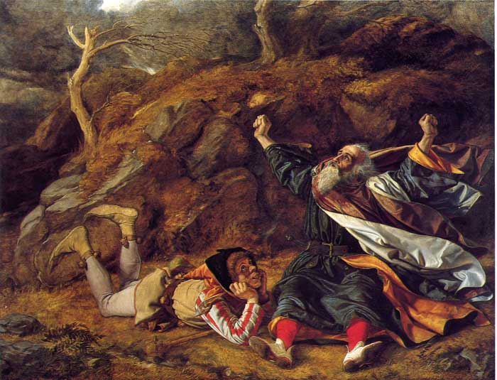 """Rei Lear e o Bobo na Tempestade"" - William Dyce (1806-1864)"
