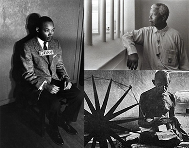 Martin Luther King - Nelson Mandela - Mahatma Gandhi