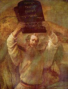 Moisés Dez Mandamentos Rembrandt