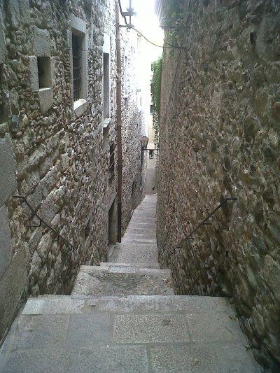 Bairro Judeu da Cidade de Girona na Espanha