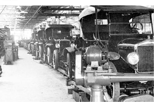 Linha de produção do Ford modelo T