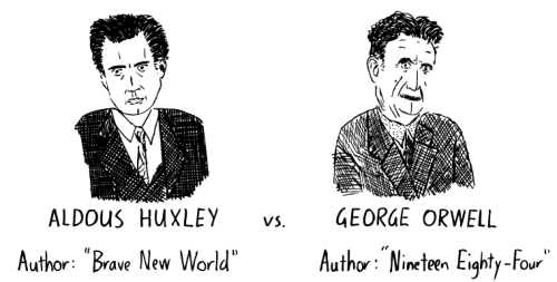 Aldous-Huxley_George-Orwell