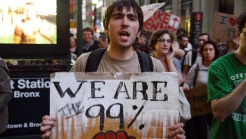 Um dos lemas do movimento Occupy Wall Street