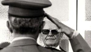 "General Ernesto Geisel e sua tradicional ""carranca"""
