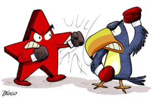 Eterno conflito entre PT e PSDB