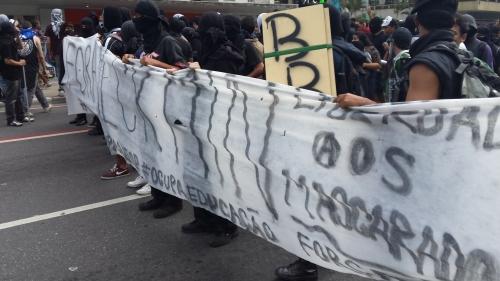 Manifestação Black Bloc no 7 de setembro em São Paulo