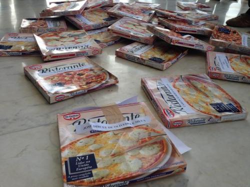 Pizzas no STF