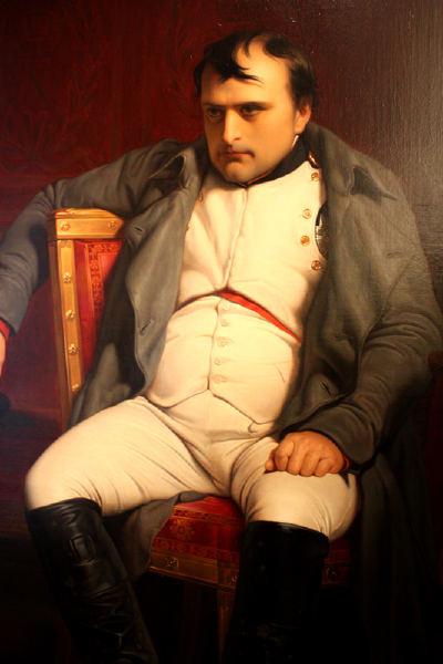 Napoleão em Fontainebeau 31-03-1814 (quadro de Paul Delaroche)