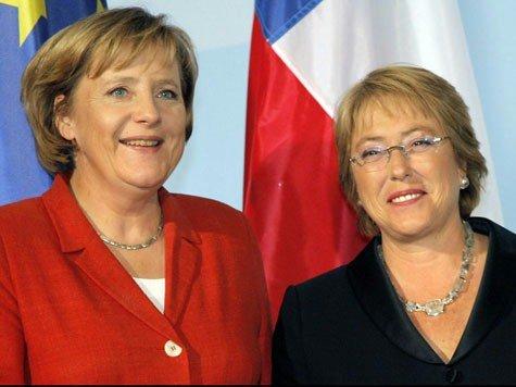 Angela Merkel e Michelle Bachelet