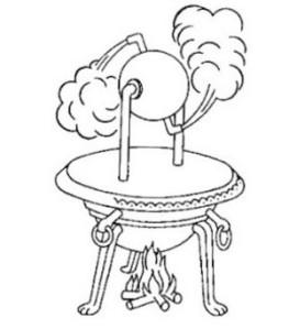 Eolípila - máquina a vapor de Heron