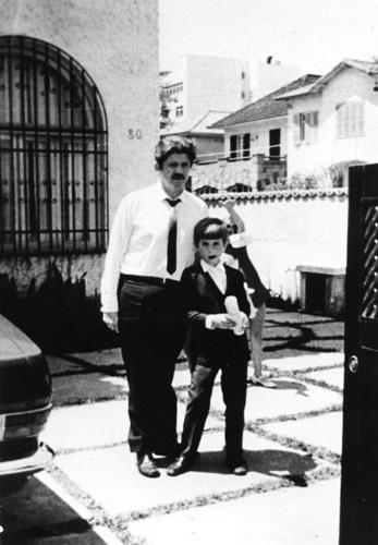 Rubens Paiva com seu filho, o escritor Marcelo Rubens Paiva