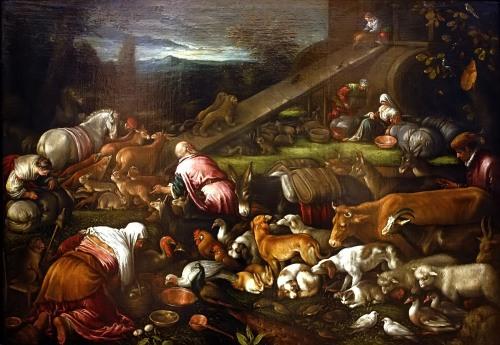 """""""A Construção da Arca"""" de Francesco Bassano"""