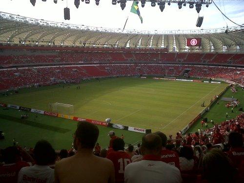 Interior do Beira-Rio antes do jogo contra o Peñarol em 06-04-2014.