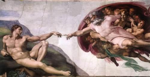"""""""A Criação de Adão"""" de Michelangelo"""