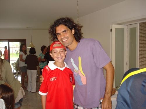 Fernandão com meu filho Leonardo