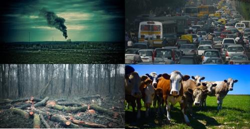 Principais fontes de gases do efeito estufa