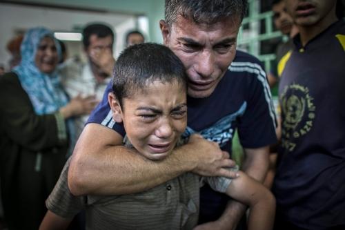 Escola da ONU em Gaza bombardeada por Israel (fonte: nbcnews.com)