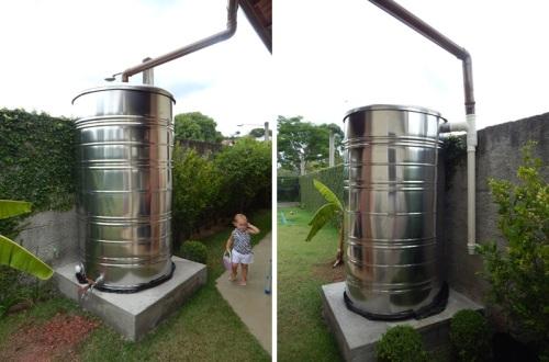 Sistema coleta agua chuva